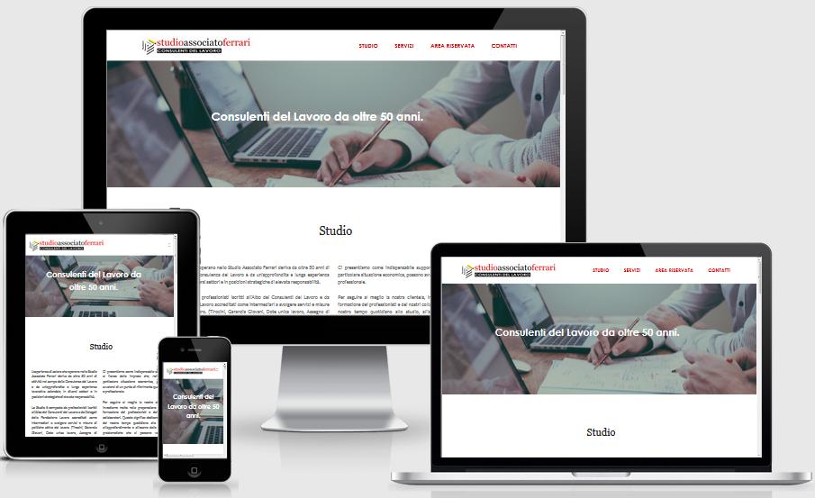 sito internet responsive consulente del lavoro Ferrari