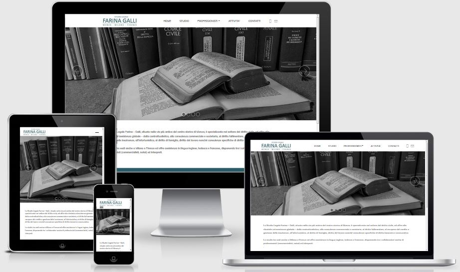 realizzazione sito web Studio Legale Farina Galli